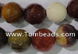CMK215 15.5 inches 14mm faceted round mookaite gemstone beads