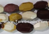 CMK233 15.5 inches 10*18mm faceted nuggets mookaite gemstone beads