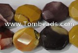 CMK236 15.5 inches 16*18mm faceted nuggets mookaite gemstone beads