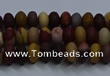 CMK301 15.5 inches 5*8mm rondelle matte mookaite beads wholesale