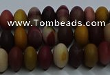 CMK302 15.5 inches 6*10mm rondelle matte mookaite beads wholesale