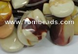 CMK33 15.5 inches 18*25mm faceted flat teardrop mookaite beads