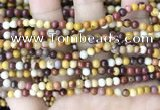 CMK345 15.5 inches 4mm round mookaite jasper beads wholesale
