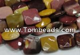 CMK41 15.5 inches 12*12mm faceted square mookaite beads wholesale