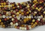 CMK56 15.5 inches 4mm round mookaite gemstone beads wholesale