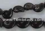 CMM50 15.5 inches 10*14mm - 12*16mm ammonite gemstone beads