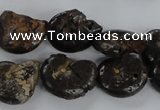 CMM51 15.5 inches 13*18mm - 15*20mm ammonite gemstone beads