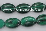 CMN103 15.5 inches 12*16mm oval natural malachite beads wholesale