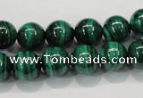 CMN154 AA grade 14mm round natural malachite beads Wholesale