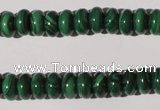 CMN206 15.5 inches 5*9mm rondelle natural malachite beads wholesale