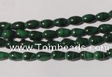 CMN215 15.5 inches 4*6mm teardrop natural malachite beads wholesale