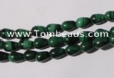 CMN216 15.5 inches 5*7mm teardrop natural malachite beads wholesale