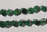 CMN246 15.5 inches 6*6mm cube natural malachite beads wholesale
