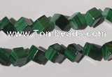 CMN247 15.5 inches 8*8mm cube natural malachite beads wholesale