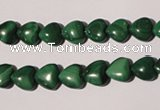 CMN256 15.5 inches 8*8mm heart natural malachite beads wholesale