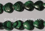 CMN258 15.5 inches 12*12mm heart natural malachite beads wholesale
