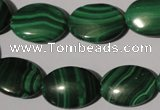 CMN274 15.5 inches 13*18mm oval natural malachite beads wholesale
