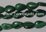 CMN281 15.5 inches 8*12mm flat teardrop natural malachite beads