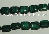 CMN302 15.5 inches 8*10mm rectangle natural malachite beads wholesale