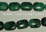 CMN304 15.5 inches 10*14mm rectangle natural malachite beads wholesale