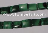 CMN312 15.5 inches 8*10mm rectangle natural malachite beads wholesale