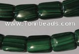 CMN316 15.5 inches 13*18mm rectangle natural malachite beads wholesale