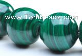 CMN35 20mm A grade round natural malachite beads Wholesale