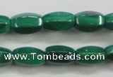 CMN422 15.5 inches 5*8mm faceted rice natural malachite beads