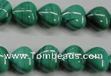 CMN424 15.5 inches 8*8mm heart natural malachite beads wholesale