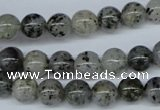 CMO03 15.5 inches 8mm round moss quartz beads wholesale