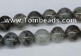 CMO04 15.5 inches 10mm round moss quartz beads wholesale