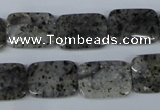 CMO16 15.5 inches 13*18mm rectangle moss quartz beads wholesale