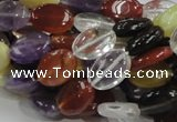 CMQ05 15.5 inches 10*14mm oval multicolor quartz beads wholesale
