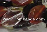 CMQ09 18*25mm twisted faceted teardrop multicolor quartz beads
