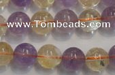 CMQ218 15.5 inches 12mm round multicolor quartz gemstone beads