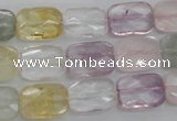 CMQ258 15.5 inches 10*14mm faceted rectangle multicolor quartz beads