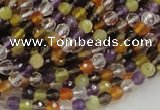 CMQ30 15.5 inches 4mm faceted round multicolor quartz beads