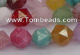 CMQ373 15.5 inches 10mm faceted nuggets mixed gemstone beads