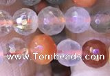 CMQ436 15.5 inches 6mm faceted round mixed rutilated quartz beads