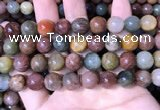 CMQ444 15.5 inches 12mm round mixed rutilated quartz beads