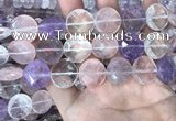 CMQ526 15.5 inches 18mm faceted coin colorfull quartz beads