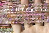CMQ530 15.5 inches 6mm faceted round colorfull quartz beads