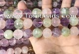 CMQ540 15.5 inches 14mm faceted round colorfull quartz beads