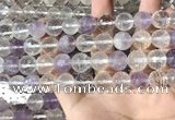 CMQ557 15.5 inches 12mm faceted round colorfull quartz beads