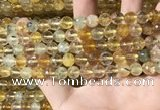 CMQ561 15.5 inches 8mm faceted round citrine & prehnite beads