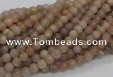 CMS01 15.5 inches 4mm round moonstone gemstone beads wholesale