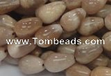 CMS09 15.5 inches 8*12mm teardrop moonstone gemstone beads wholesale