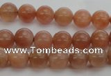 CMS1001 15.5 inches 6mm round AA grade moonstone gemstone beads