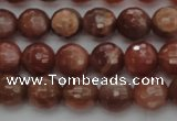 CMS1011 15.5 inches 6mm faceted round AA grade moonstone beads