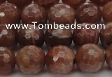 CMS1014 15.5 inches 10mm faceted round AA grade moonstone beads